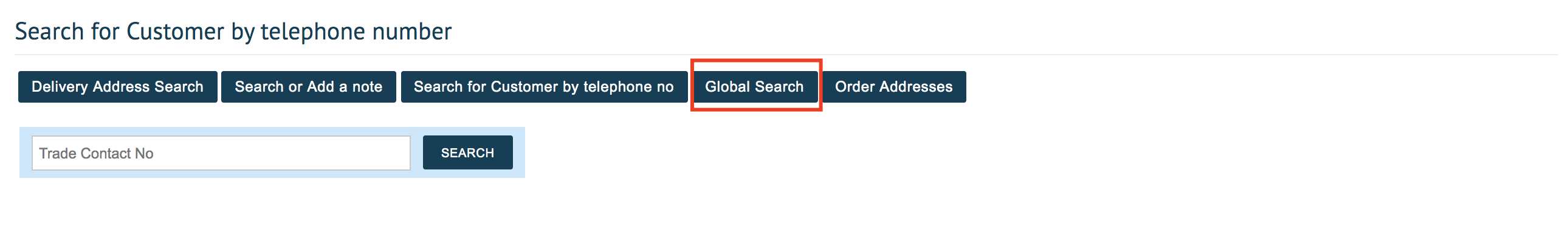 Global Search Funcionality